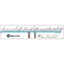 cta line map ctagifts com blue line map poster