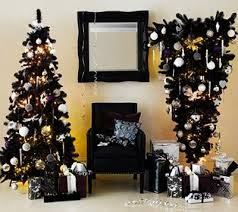 excellent ideas black tree ornaments and white