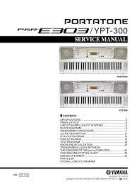 yamaha psre303 service manual input output file format