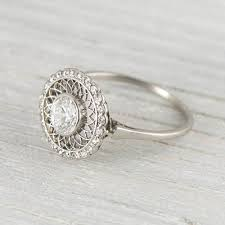 simple vintage engagement rings vintage engagement rings etsy classic wedding inspiration 58576