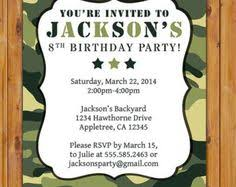 camo invitations template army birthday parties boot camp and