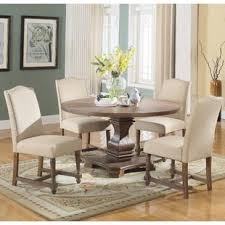 Circle Dining Table And Chairs 60 Inch Dining Table Set Wayfair