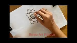 tetu in hand learn how to draw simple full body ganesha mehendi tattoo tutorial