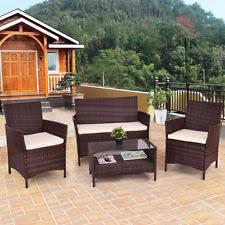 Rattan Patio Table Rattan Outdoor Patio Furniture Ebay