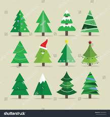 different tree set vector illustration stock vector