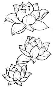 tattoo flower drawings lotus flower drawing tattoo clipartxtras