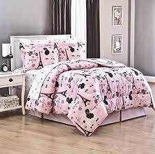Girls Pink And Black Bedding by Paris Bedding For Girls