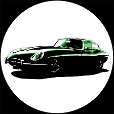british racing green iconic jaguar e type u0027 u2013 12 u2033 vinyl record wall clock the records