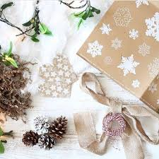 christmas wrapping paper sets snowflakes brown christmas wrapping paper set by