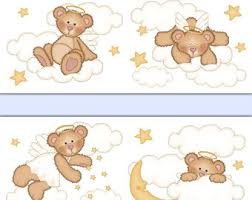 Nursery Wallpaper Border Mural Decals Wall Art By Decampstudios - Wall borders for kids rooms