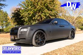 roll royce ghost all black raymond felton u0027s matte black rolls royce ghost u2014 dreamworks