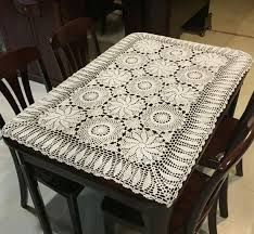 Coffee Table Cover Handmade Crochet Hollow 100 Cotton Table Cloth Tablecloths