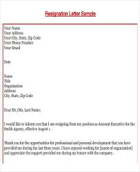 10 retail resignation letter template free word pdf format