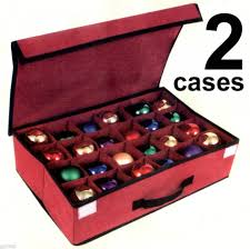 ornament storage box with dividers large