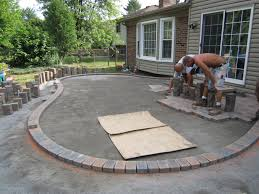 Small Paver Patio by Marvelous Concrete Patio Ideas For Small Backyards Pictures Design