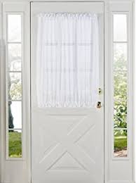 Walmart French Door Curtains Amazon Com Sheer Voile 72 Inch French Door Curtain Panel White