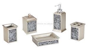 Discounted Bathroom Accessories by Silvery Stone Like Resin Bathroom Set Soap Dispenser Buy Bathroom