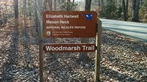 Interior Signs Trail Hiking In Mason Neck National Wildlife Refuge On The Woodmarsh