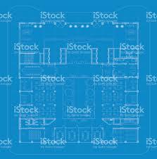 office architectural plan blueprint stock vector art 657327334