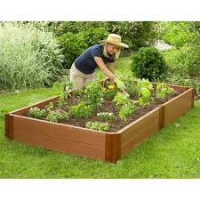 How To Install A Raised Garden Bed - composite raised garden bed 4 u0027 x 8 u0027 eartheasy com