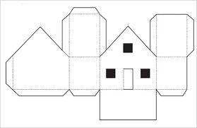 printable model house template 3d house template printable templates data