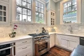 Transitional Kitchen Ideas White Kitchen Backsplash Ideas Transitional Kitchen With Marble