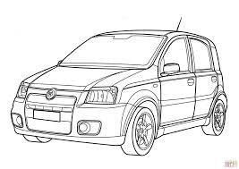 fiat panda coloring page free printable coloring pages