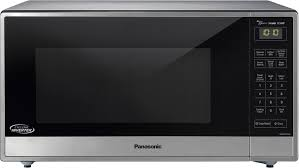 countertop microwaves best buy panasonic 1 6 cu ft family size microwave stainless steel silver