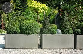 modern plant pots make front garden design with parking yard car park ideas