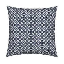 starburst midcentury modern geometric navy blue fabric