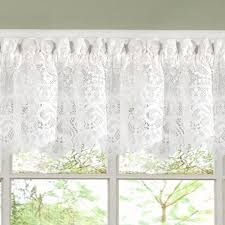 White Lace Window Valances Luxurious Old World Style White Lace Kitchen Curtains Tiers Shade