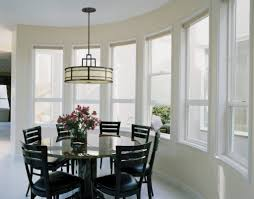 simple dining room lighting white finished wooden dining table
