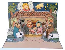 christmas nativity scene pop up card http www mylittlehouse org