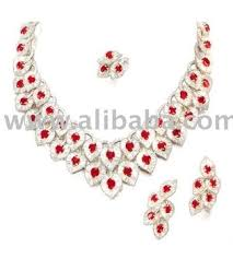 silver necklace sets images 925 sterling silver ruby zircon necklace set view gemstone jpg