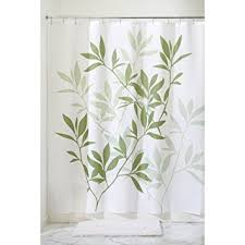 Shower Curtain For Single Stall - amazon com interdesign leaves fabric shower curtain stall 54