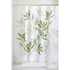 Fabric Stall Shower Curtain Amazon Com Interdesign Leaves Fabric Shower Curtain Stall 54