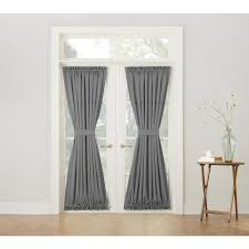 Door Panel Curtains Sun Zero Semi Opaque Gregory Grey Room Darkening Door Panel