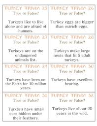 true false turkey trivia activity for the week of