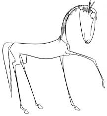 simple drawing of horse horse drawing in pencil pencil sketch
