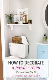 how to decorate a powder room for less than 50 just a and