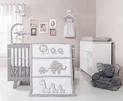 Grey Nursery Bedding Set Trend Lab Safari Chevron 3 Crib Bedding Set