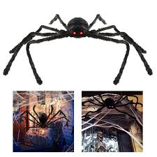 amazon com bestomz giant halloween spider 125cm with led eyes