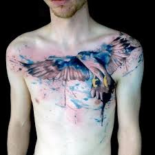 90 falcon tattoo designs for men winged ink ideas