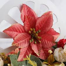 aliexpress com buy ourwarm 50pcs glitter poinsettia christmas