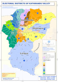 Maps Nepal by The Himalayan Universe Constituency Map Of Kathmandu District And