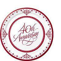 40th anniversary plates best 25 40th anniversary cakes ideas on 40th
