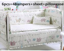 Unisex Crib Bedding Sets Promotion 6pcs Baby Bedding Set Cot Set Cotton Unisex
