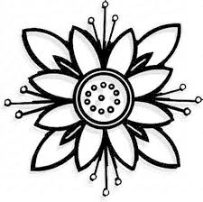 easy flower coloring pages funycoloring