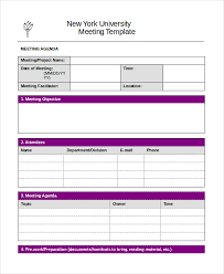word agenda template 6 free word documents download free