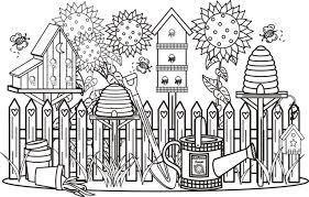 garden scene coloring greatest book bebo pandco